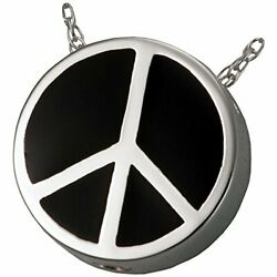 Memorial Gallery Mg-3115s Peace Sign Sterling Silver Cremation Pet Jewelry