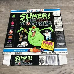 Vintage The Real Ghostbusters Fruit Snack Box Only Slimer Door Hanger Rare 27