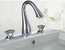 Vintage Polished All Brass 2 Holes Bathroom Sink Basin Water Faucets Mixer Tap