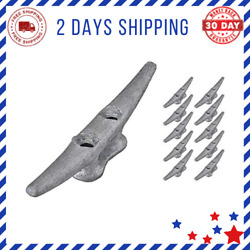 Dock Cleat Hot Dipped Galvanized Cast Iron Boat Cleats Ideal For Marine 6 Inch