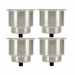 Amarine Made 4pcs Stainless Steel Cup Drink Holder With Drain For Marine Boat...