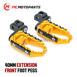 Front 40mm Extension Large Touring Foot Pegs For Fz6 2004-2016 Fz8 S Fazer 10-16
