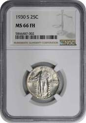 1930-s Standing Liberty Silver Quarter Ms66fh Ngc