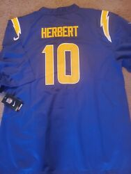 Nwt Nike Los Angeles Chargers Justin Herbert Royal Blue Home Jersey Size 2xl 🔥