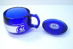 Vintage Rare Ge General Electric Coffee Cup Matching Coaster/saucer Plastic Blue