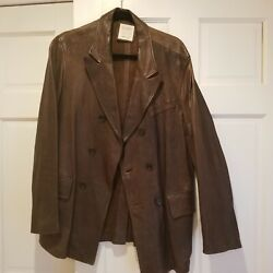 Leather Jacket L Mens Nwtbilly Reid