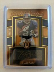 Tiki Barber 2020 Gold Standard Gold Scripts Autograph 46/49 Ny Giants Auto