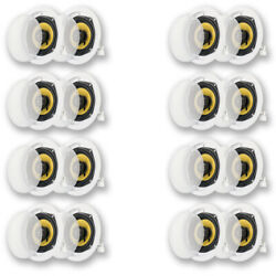 Acoustic Audio Hd-5 Flush Mount In Ceiling Speakers Home Theater 8 Pair Pack