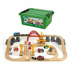 Brio 33097 Cargo Railway Deluxe Set   54 Piece Train Toy With Accessories And...