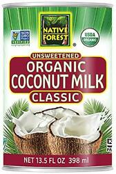 Native Forest Organic Classic Coconut Milk 13.5 Ounce Cans Pack Of 12packagin...
