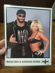 Wcw Wwf Wwe Macho Man And Gorgeous George Authentic Official Promo Photo