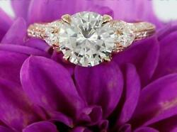 4ct Round Diamond Princess Gatsby Cocktail Engagement Ring 14k Rose Gold Over