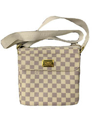 LOUIS VUITTON Damier Azur Crossbody Bag Pre Owned Great Condition $800.00
