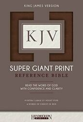 Kjv Super Giant Print Bible By Hendrickson Bibles Book The Fast Free Shipping