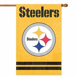 Party Animal Pittsburgh Steelers Banner Nfl Flag Yellow