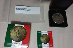 2018 Mexico Silver Libertad Antiqued Finish Full Set 1, 2, 5 Oz In Mint State