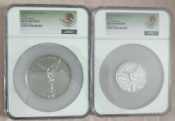 2019 Antique Silver Libertad 2oz And 5ozandnbsp Ngc Ms70 Coat Of Arms Labelandnbsplow Mintage