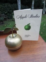 The Beatles Brass Apple Trinket Box Made For Guests Apple Studios 30 Sept 1971