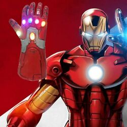 Adult Kids Iron Man Thanos Gauntlet Infinity War Gloves With Led Us