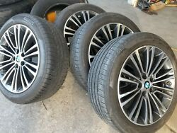 Bmw 5 And 6 Series Oem Genuine Style 634 18 Wheel/tire/tpms/center Cap Set