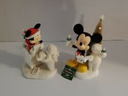 Snowbabies Guest Collection A Mickey Melody And Special Delivery Mickey And Me