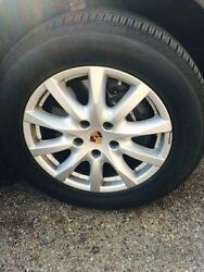 Porsche Oem, Brand New 18 Cayenne Ii Wheels Tires Tpms And Color Center Caps