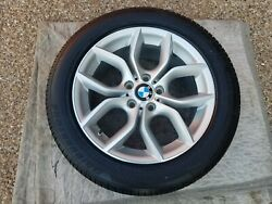 Bmw X3 And X4 New Oem Factory Original Style 308 18 Wheel/tire/tpms And Cap Set