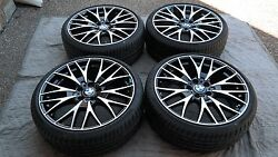 Bmw 3and4 Series New Oem Double Spoke Style 404 20 Wheel/tire/tpms And Center Caps