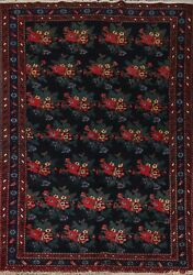 Vegetable Dye Semi-antique All-over Bakhtiari Hand-knotted Area Rug 5and039x8and039 Carpet