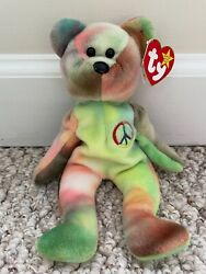 Rare Ty Beanie Baby Peace-mint With Five Major Errors