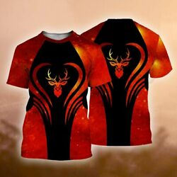 A Gift For The Only One You Love Deer Hunting Style Red 3d Shirts For Men