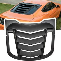 Rear Window Louver Sun Shade Scoop Cover For Ford Mustang 2015-2021