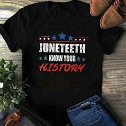 Juneteenth Know Your History Anti 4th Of July T-shirt