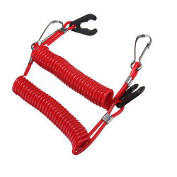 2x Double Boat Outboard Engine Cord Kill Stop Switch Safety Lanyard Tether Utwr