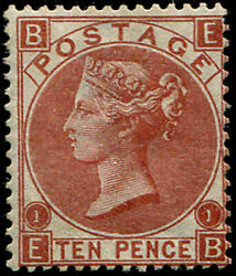10d Sg 114 'deep Red-brown' Mint, Good Fresh M/m With Fab Colour Of This Scarce