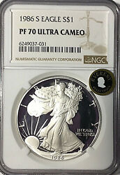1986-s American Silver Eagle 1 Proof Ngc Pf70 - Everest Selections - Pg 1290