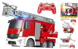 Rescue Remote Control Fire Truck Shoots Water Extendable 18 Inch Ladder 10