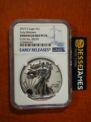 2019 S Enhanced Reverse Proof Silver Eagle Ngc Pf70 Early Releases W/ Coa 28379