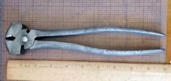Antique -- Staple Puller Button Pliers --- Utica / Russell -- Very Early Tool