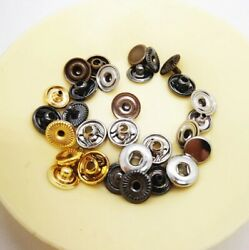 Sewing Buttons Metal Brass Press Studs Snap Fasteners Leather Craft Clothes Bags