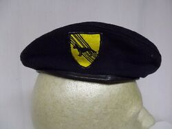R25a-41 Us Air Force Vietnam Security Police Dog Handler Black Beret Size Small