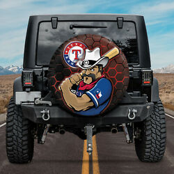 Mascot Texas Rangers For Baseball Mlb Fans Dth01 Spare Tire Cover