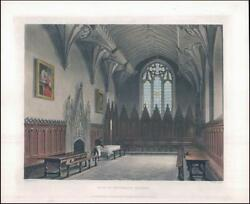 1814 Oxford Hall Of University College Aquatint By Ackermann Ao9