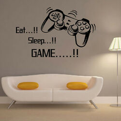 Eat Sleep GAME Removable Wall Stickers Art Decal DIY Boys Bedroom Home Decor NEW