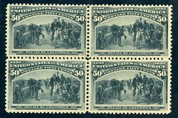 Us Scott 240 Block Mint-vf-og-lh Extremely Fresh And Choice 6/8/21 Gp