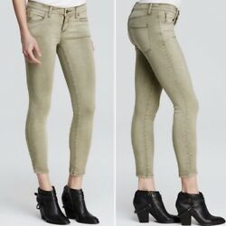 Free People Army Green Roller Crop Skinny Jeans Size 26