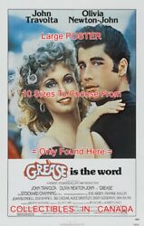 Grease Is The Word 1978 Olivia And John = Movie Poster 10 Sizes 17 - 5 Ft And 10