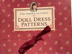 American Girl Doll Dress Sewing Patterns Samanthaand039s Pretty Clothes Uncut Open Bo