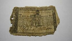 1770 1 Annapolis Maryland Md Colonial Currency Note Bill Revolutionary War Rare