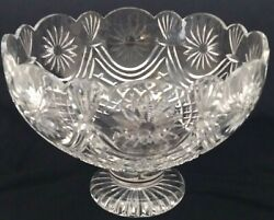 Waterford Crystal Centerpiece Footed Bowl Only 250 Made Limited Rare 29/250
